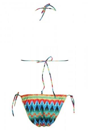 Класически бански костюм в свеж десен от две части (B3016)