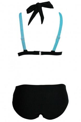 Стилен двуцветен бански костюм от две части (B3037-4)