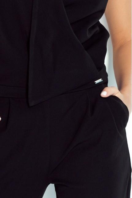 Черен елегантен гащеризон с джобове(A311)