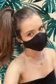Дантелена предпазна маска за лице в черно (M05)