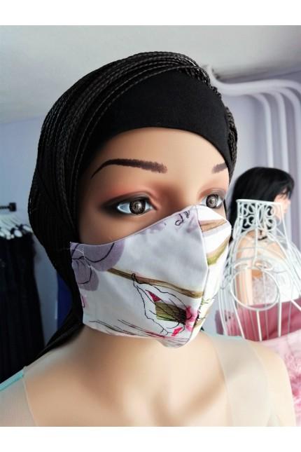 Дамска четирислойна предпазна маска за многократна употреба (M02)