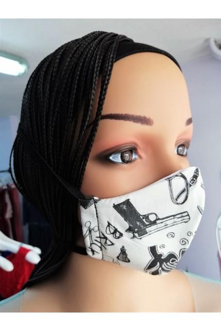 Детска четирислойна предпазна маска за многократна употреба (M03)