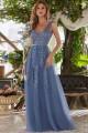 Възхитителна тюлена бална рокля с дантелени апликации (RO99258)
