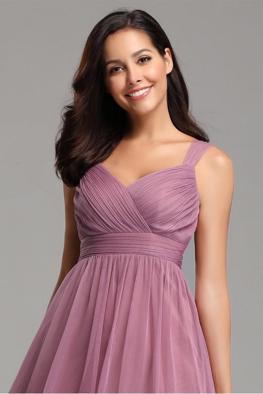 Прелестна къса бална разкроена рокля (R9827)