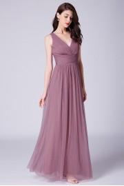 Нежна официална рокля с V- образно деколте (R9847)