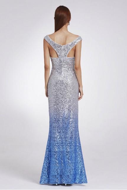 Грациозна бляскава бална рокля в преливащи цветове (R9860)