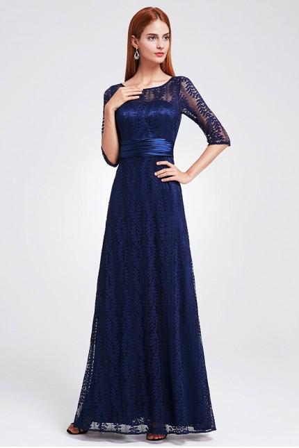 Дантелена официална рокля в тъмно синьо (R9876)