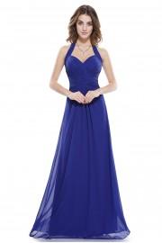 Пленителна дълга официална рокля в сапфирено синьо (R9913)