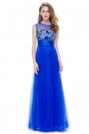 Елегантна дълга официална рокля с красива горна част (R9914)