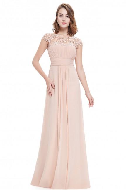 Прелестна официална бална рокля с красива дантела(R9927)
