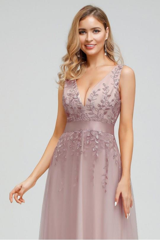 Елегантна бална рокля с нежни флорални мотиви (RO99111)