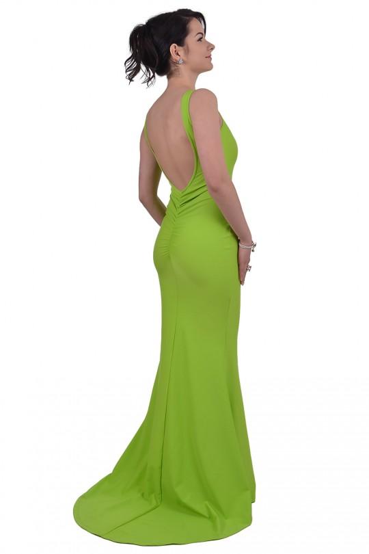 Разкошна дълга рокля с гол гръб (R9183-2)