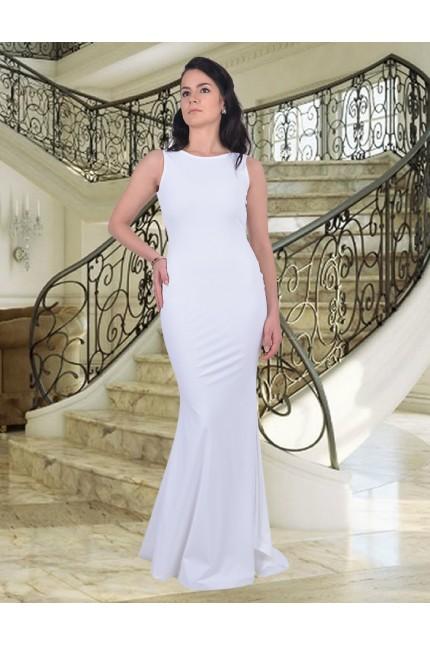 Разкошна дълга рокля с гол гръб (R9183)