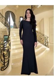 Уникална дълга рокля тип русалка с шлейф (R9189)