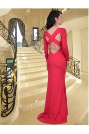 Уникална дълга рокля тип русалка с шлейф (R9189-1)