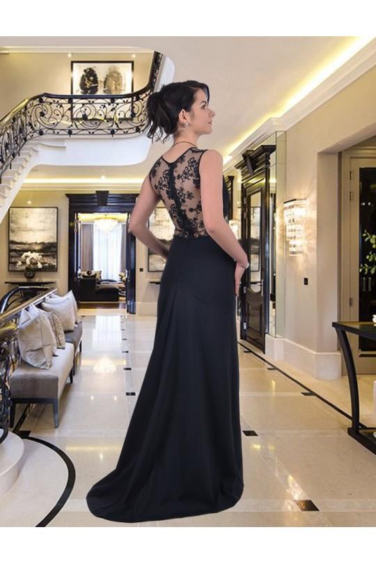Уникална дълга рокля с дантелена горна част (R9250)