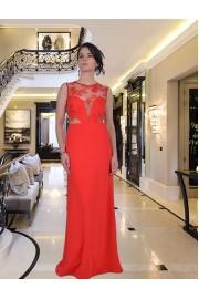 Уникална дълга рокля с дантелена горна част (R9250-2)