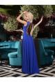 Зашеметяваща официална дълга рокля с красива апликация(R9632)