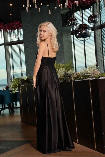 Възхитителна официална рокля с дантелена горна част(R9638)
