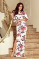 Дълга спортно елегантна рокля в красив флорален принт (R9997)