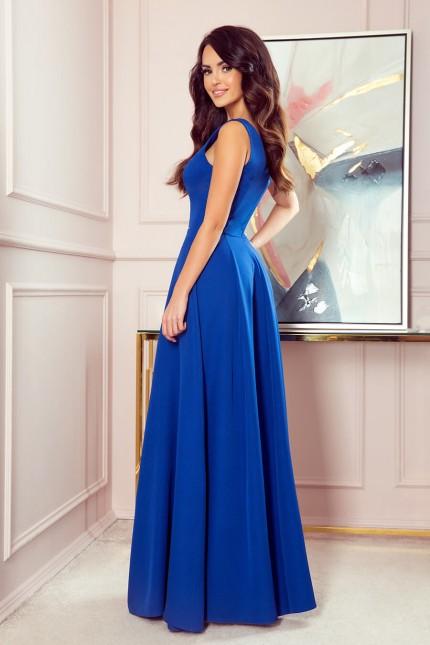 Елегантна дълга официална рокля в кралско синьо (RO99158)