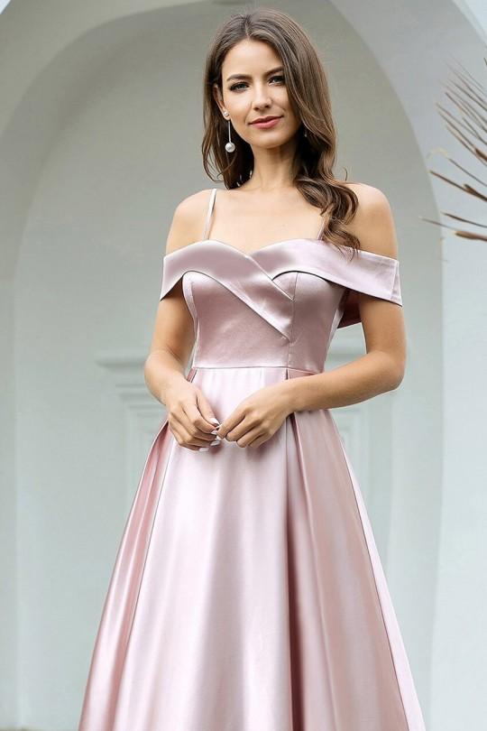 Очарователна официална рокля с паднали рамене (RO99161)