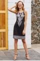 Красива лятна рокля с етно мотиви (R9985)