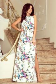 Дълга елегантна ежедневна рокля с уникален принт (R9992)