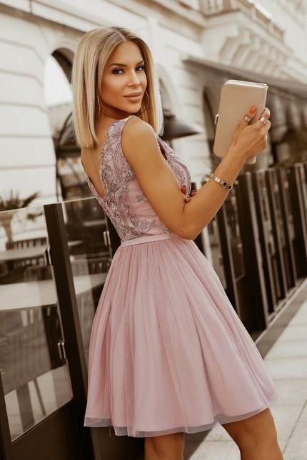 Възхитителна официална рокля в пепел от рози (RO99286)