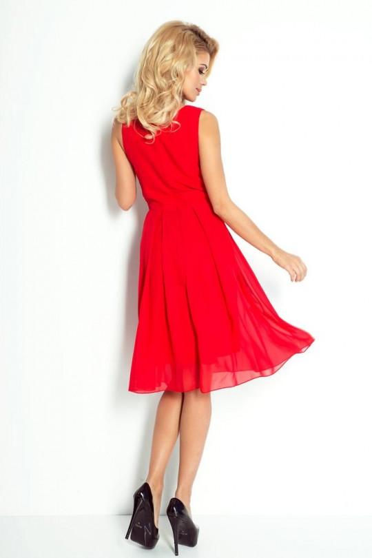 Изящна къса официална рокля с шифон (R9469)