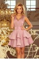 Прелестна официална рокля с красива дантелена горна част (R9701)