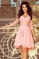 Красива официална рокля в розово с асиметрична долна част (R9978)