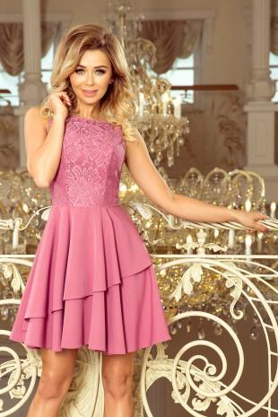 Кокетна официална разкроена рокля в уникален цвят (R9993)