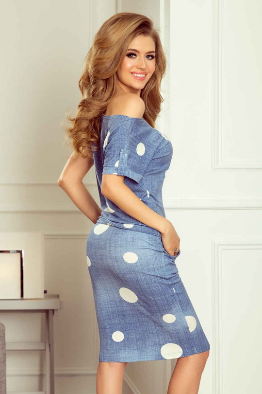 Спортно елегантна ежедневна рокля с джобове (R9706)