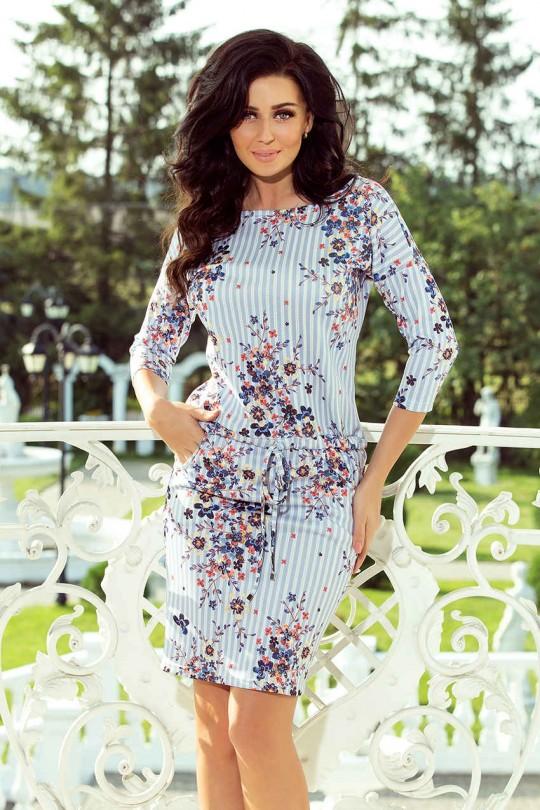Очарователна ежедневна рокля с изкусителен принт (R9722)