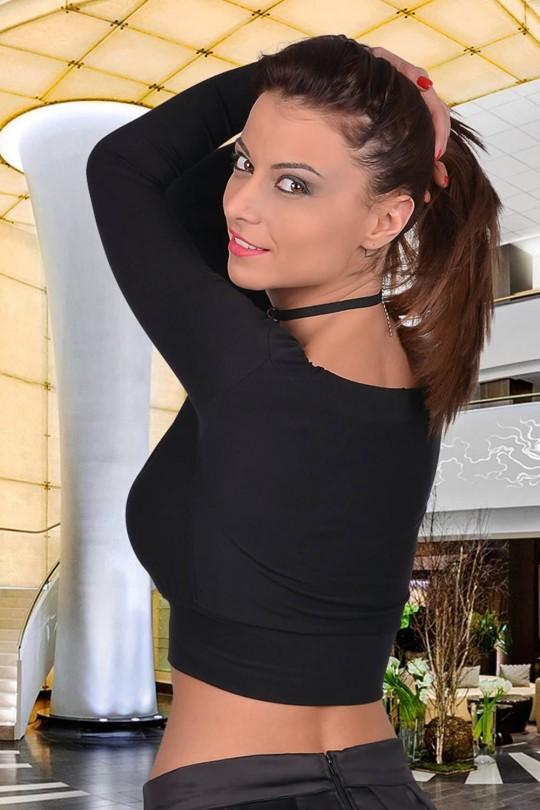Секси къса блузка с дълги ръкави(T2051)