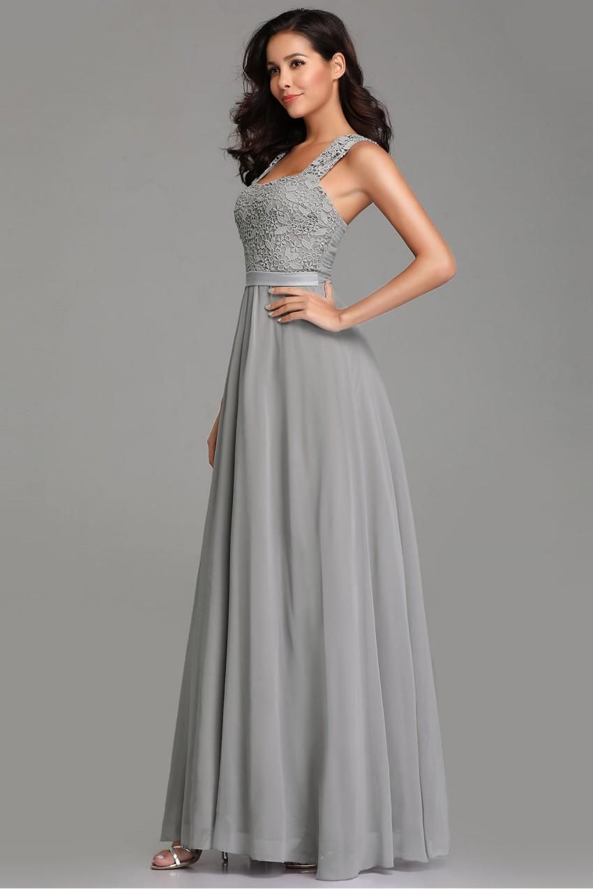 d7ebdcc8db9 Дълга официална рокля с дантелена горна част (R9801)